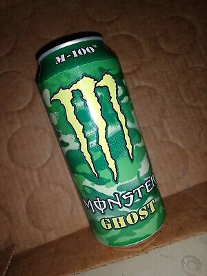 EMPTY Monster Energy M-100 GHOST & PHANTOM 16 oz Cans - Top or Bottom - RARE