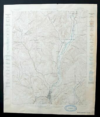 Durango Colorado Rare Antique 1898 USGS Topo Map Hermosa 15-minute Topographic