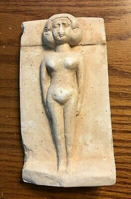 Ancient Egyptian Cemetery Reproduction Woman Lying On A Bed Israel Museum Statue