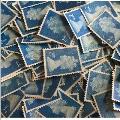 1000 2nd Class Stamps, Unfranked Off Paper With No Gum good quality