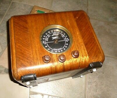 Vintage ZENITH Model 5J-217 WOODEN CUBE RADIO Working, 1930's