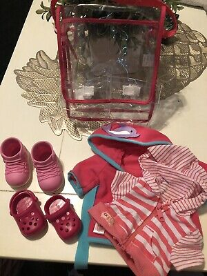 Our Generartion Doll Accessories Lot With Bag EUC Clothes Shoes