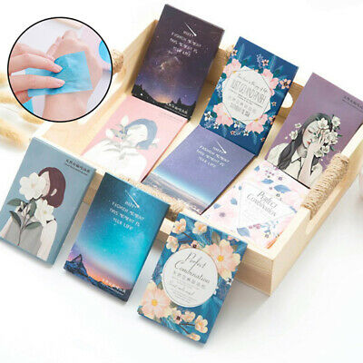50PCS Sheets Make Up Oil Absorbing Blotting Facial Cleaning Paper Beautiful~GN