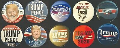 Donald Trump 2020 Variety Pack Buttons - Set of Ten (10) Different Buttons