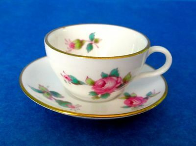 Spode Miniature BILLINGSLEY ROSE SPRAY Bone China England Cup & Saucer