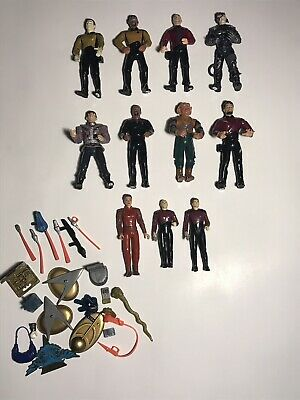 Playmates Star Trek The Next Generation & DS9 Lot Of 11 Action Figures + Extras