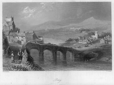 1840 IRELAND - Original Antique Print View of BRAY County Wicklow (97)