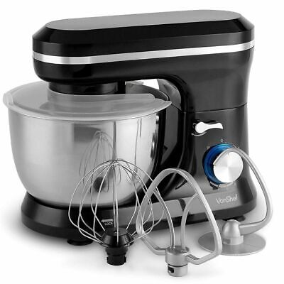 Electric Food Cake Mixer Black 4.5L Stainless Steel Mixing Bowl Sale Gift 1000W