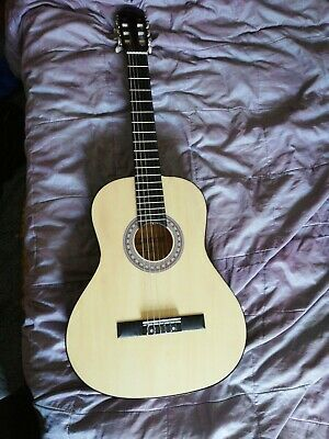 Full Size 6 String Steel Strung Acoustic Guitar by Elevation + Free strings pack