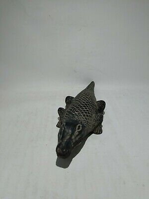 RARE ANTIQUE ANCIENT EGYPTIAN Statue God Sobek Crocodile Protective 1805-1720 Bc