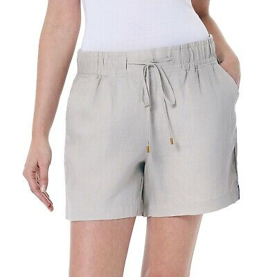 INC Womens White Linen Pull On Everyday Casual Shorts Plus 2X BHFO 5180