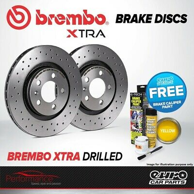 BREMBO XTRA FRONT Vented High Carbon Drilled Brake Disc Pair