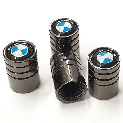 BMW High Quality Alloy Metal Chrome Dust Valve Caps Set Of x4
