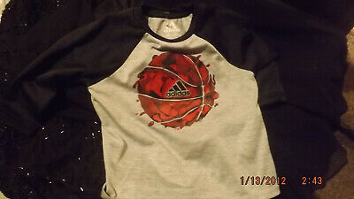 baby boy's long sleeve adidas basketball top- size 12 months (NEW)