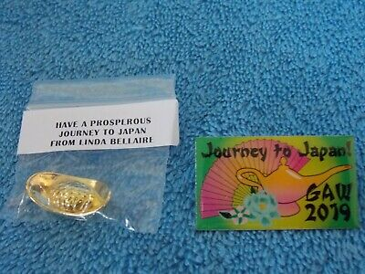 2019 GAW Barbie Doll Convention Journey To Japan Pin & Accessory