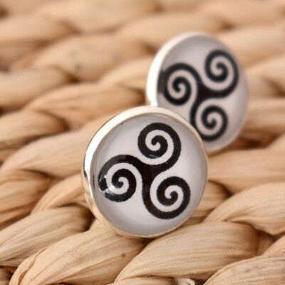 1Pair of Teen Wolf Inspired Triskele Symbol Earring Studs Birthday Gift Jewelry