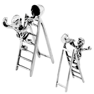 Liquidation Sale 16.47gms boy ladder holiday gift miniature collectible a82326