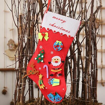 Santa Claus Stocking Hanging Socks Non-woven Fabric Gift Christmas Decoration AU