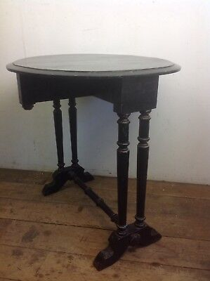 Victorian Ebonised side table restoration  antique old