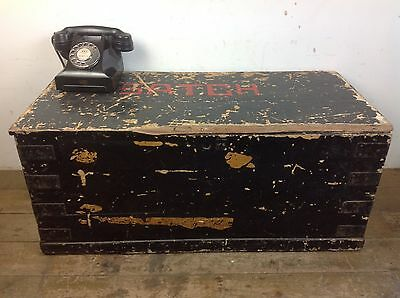 Antique Pine Wood Chest Trunk Treasure Storage Old Victorian Restoration Project