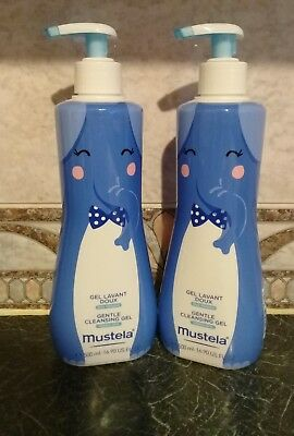 Brand New~Mustela~Gentle Cleansing Gel~For Normal Skin~2 X 500Ml Sizes