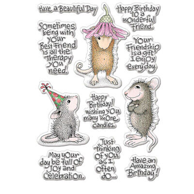 Rat Mouse brother Clear Stamp For Diy Scrapbooking Paper Cards Crafts