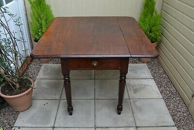Gorgeous Antique Mahogany Pembroke Table Drop Leaf Farmhouse Rustic Table Drawer