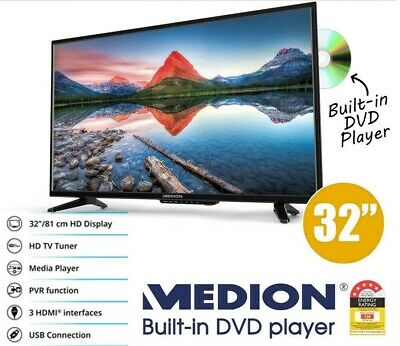 """MEDION 32"""" (81cm) LED LCD TV BUILT IN DVD COMBO USB RECORDING, REMOTE INCLUDED"""