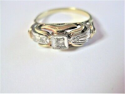Antiker Ring Gold 585 mit Diamanten, 3,7 g