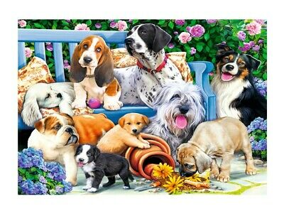 Puzzle 1000 pièces Dogs in the Garden (79204)