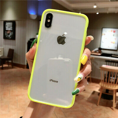 For iPhone XR XS MAX X 6 7 8 Plus Clear Back Case Shockproof Slim Bumper Cover