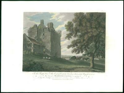 "1778 Large Antique Print - NORTHUMBERLAND ""MORPETH CASTLE"" Viscount Howard (56)"