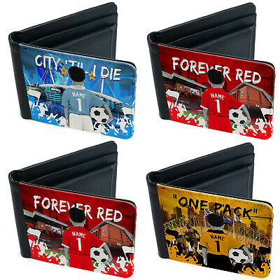 Football Wallet Coin Childrens Bi Fold Kids Boys Personalised Gift - All Teams