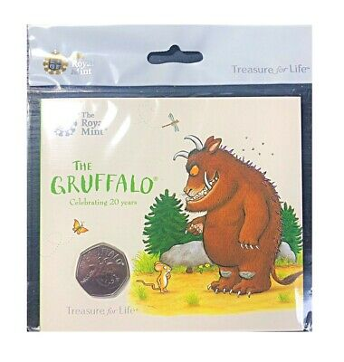 Brand New Royal Mint Gruffalo 50p Fifty Pence BUNC Coin Pack Sealed Rare LTD ED.