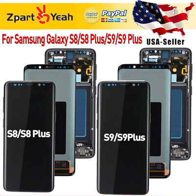 Dispaly For Samsung Galaxy S8 S9 Plus LCD Touch Screen Digitizer Assembly+Frame