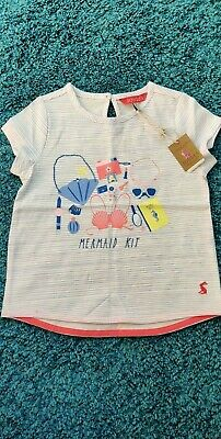 Girls Age 4 Years Joules Mermaid Kit Top T-Shirt  *NEW WITH TAGS*