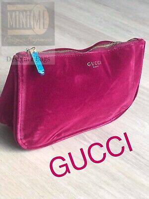 🆕💝💖💝Gucci Beauty Burgundy Red Velvet Travel Pouch Make Up Bag Cosmetic Bag💝