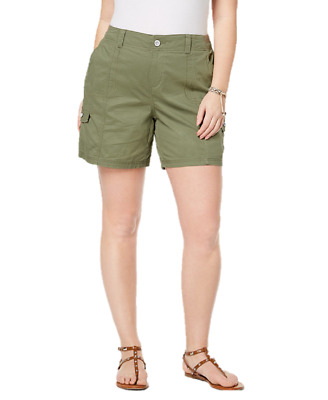 Style & Co Plus Size Cargo Shorts in Olive Sprig Green, Size 16W, Retail $52.50