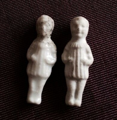 2 Feves Ancien Enfant Garcon Biscuit 1 Email Epiphanie Roi Mages Old Bean Christ