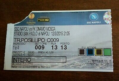 Biglietto ticket calcio NAPOLI *vs* DINAMO MOSCA 12/3/2005 Tribuna FOOTBALL ⚽⚽⚽