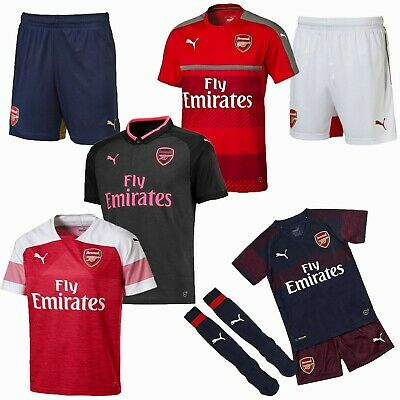 Arsenal FC Football Shirt Shorts Sale Mini Kit Boys Girls Kids Junior Top PUMA