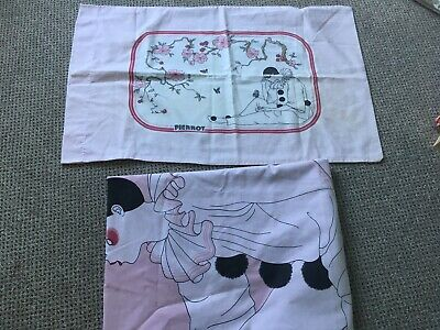 Rare Pierrot Single Duvet Cover and Pillow Case Vintage 1980/90s Excellent Cond.