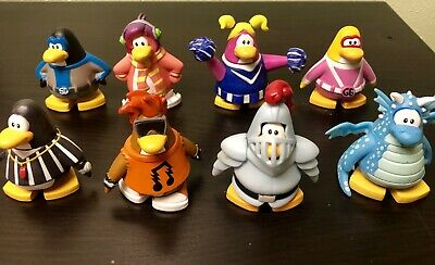 "LOT OF 4  Disney Club Penguin pvc action figure  2.5/"" #K8"