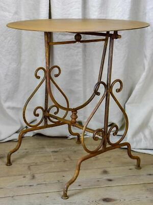 Antique French iron wine makers table