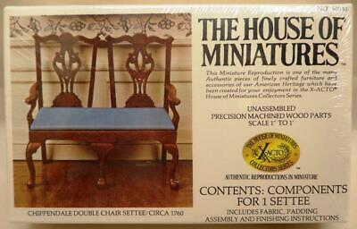 X-Acto House of Miniatures Chippendale Double Chair Settee/Circa 1760 Kit 40030