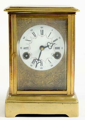 Large C19th French Carriage Clock Striking On Gong (23.5 cm high + Pen - Key)