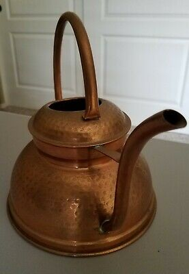 SOLID Copper Hand-wrought Hammered Watering Can HOLDS .75 GAL.