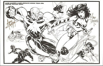 Mike Deodato & Marc Campos '93 Tour Signed Print