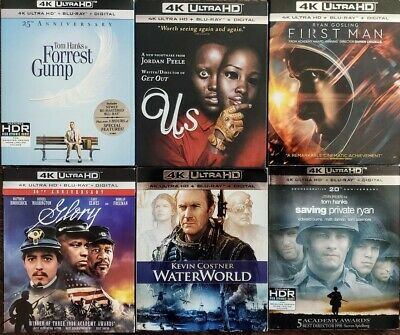 4K Uhd + Bluray Movies Buyer Chooses Title - Slipcovers Included See Description