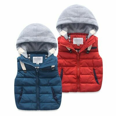 Children's Warm Vest Thicken Waistcoat Outwear Kids Baby Boy Girls Jacket Cotton